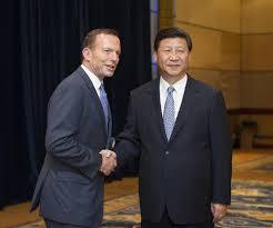 Australian Prime Minister Tony Abbott and Chinese President Xi Jinping
