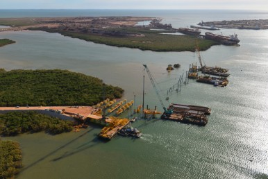 Crane Accident Leaves Two Men Injured at Pilbara Wharf
