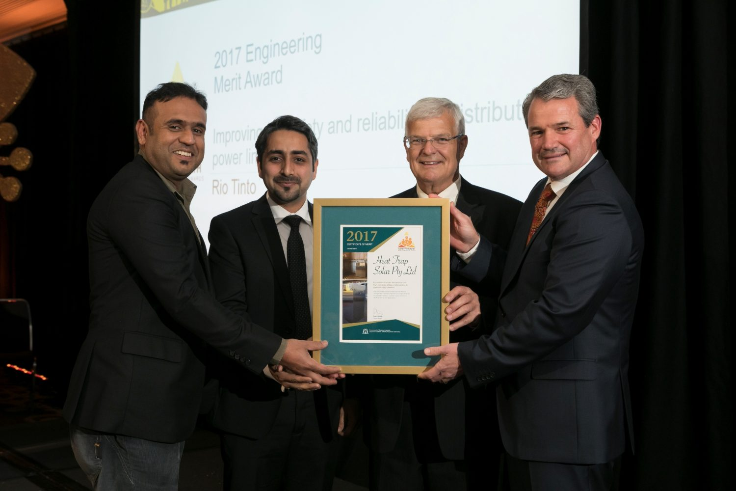 Heat Trap Solar Recognised at the 2017 Safety and Health Resources Sector Awards