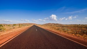 A road in the Pilbara, where the town of Onslow will receive financial boosting from the government