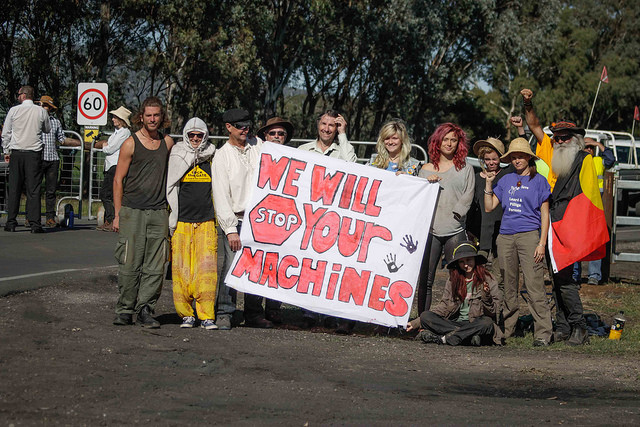 Protesters Halt Tree Clearing At Maules Creek