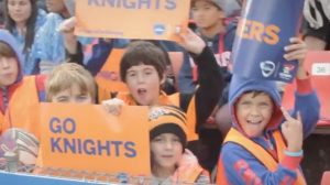Knights Vs Penrith Panthers at Voice For Mining Family Day
