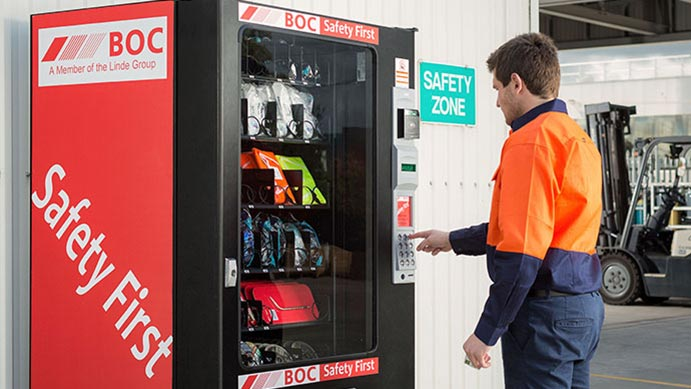 BOC PPE industrial consumables vending machine