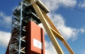 Access to Beaconsfield headframe suspended