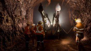 Underground at Oz Minerals' Prominent Hill mine in South Australia.